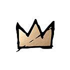 Gold & Black Basquiat Crown  by sebinlondon