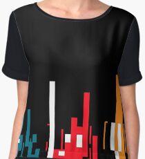 Skyline, Generative Art, Data Visualisation Chiffon Top