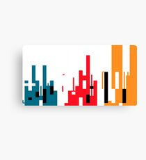 Skyline, Generative Art, Data Visualisation Canvas Print
