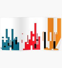 Skyline, Generative Art, Data Visualisation Poster