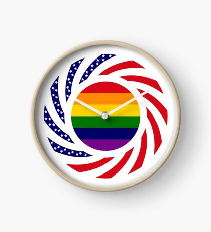 Love is Love American Flag Clock