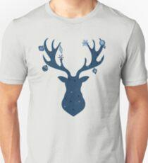 Magical and Mystical Christmas Deer Head Unisex T-Shirt