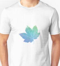 colorfull skeleton Leaf blue T-Shirt