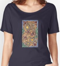 Verticle, Yellow Topaz, Floral Cascade Women's Relaxed Fit T-Shirt