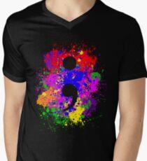 Semicolon Paint Splatter T-Shirt