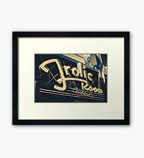 Frolic Room Dive Bar Framed Print