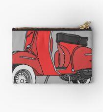 Vespa Illustration - Red Studio Pouch
