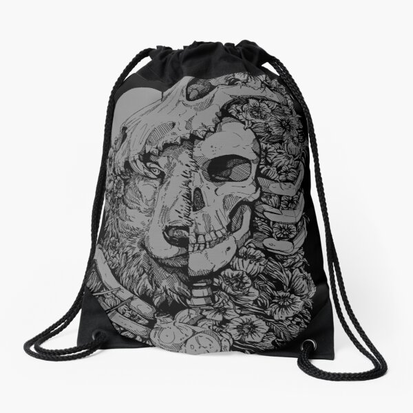 Wolf Child Drawstring Bag
