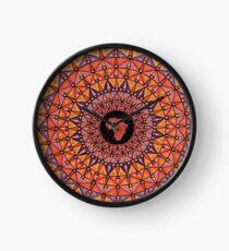 Afrikanische Mandala Uhr