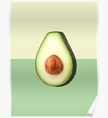 Avocado Half Slice Tropical Fruit Poster