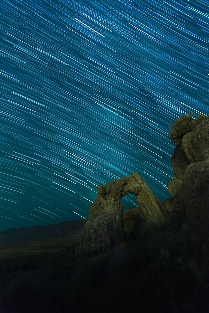 Star Trails Over Arch by Nathan Gross