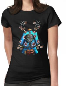 Asia Blue on Black TShirt by Karin Taylor Womens Fitted T-Shirt