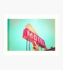 Vintage Americana Motel Sign Art Print