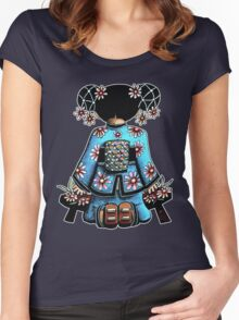Asia Blue Doll (large design) Women's Fitted Scoop T-Shirt