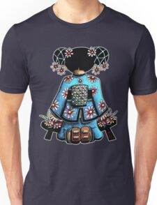 Asia Blue Doll (large design) Unisex T-Shirt