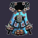 Asia Blue Doll (large design) by Karin Taylor