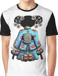 Asia Blue Doll (large design) Graphic T-Shirt