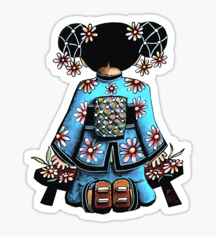 Asia Blue Doll (large design) Sticker