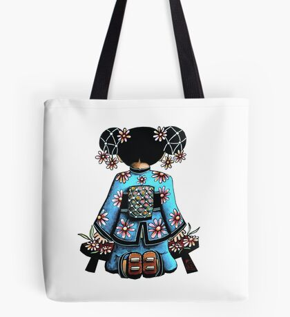 Asia Blue Doll (large design) Tote Bag