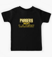 Phasers Beat Lasers Kids Clothes