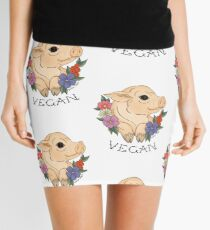 Vegan Piggy! Mini Skirt