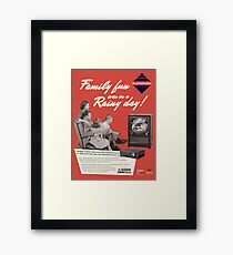 Neo Retro - 1960s PlayStation Ad Framed Print