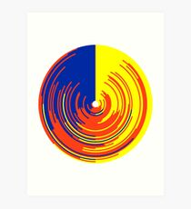 Big data doughnut Art Print