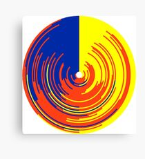 Big data doughnut Canvas Print