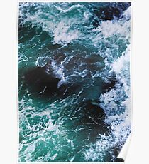 Blue Ocean Waves, Sea Photography, Seascape Poster
