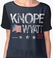 Knope 2020 Distressed Chiffon Top