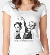 Tesla v Edison Women's Fitted Scoop T-Shirt