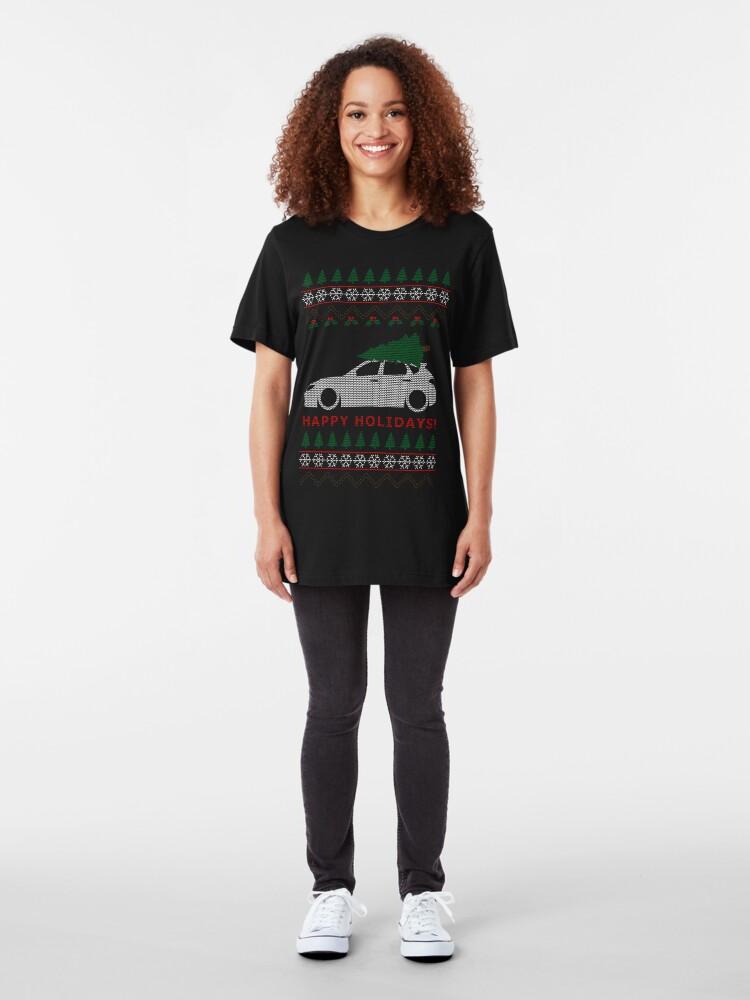 Vista alternativa de Camiseta ajustada WRX STI Hatch Ugly Christmas Sweater (GR)