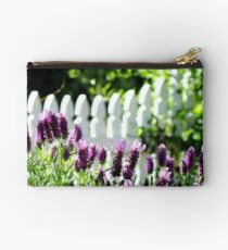 Lavender and Picket Fences Studio Pouch