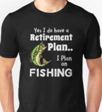 Retired Worker, Full Time Fisherman T-Shirt