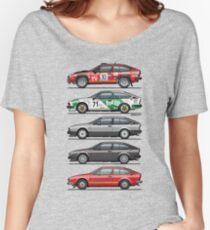 Stack of Alfa Romeo Alfetta GT and GTV6 Women's Relaxed Fit T-Shirt