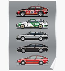 Stack of Alfa Romeo Alfetta GT and GTV6 Poster