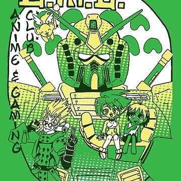 Anime Club Shirt by haberdasher92