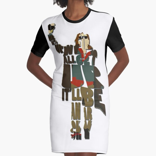The Criminal Graphic T-Shirt Dress