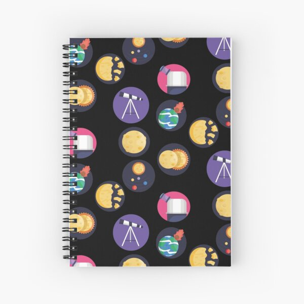 Astronomy Icons Spiral Notebook