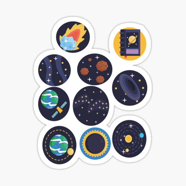 Astronomy Icons Sticker