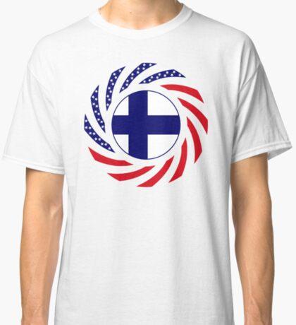 Finnish American Multinational Patriot Flag Series Classic T-Shirt