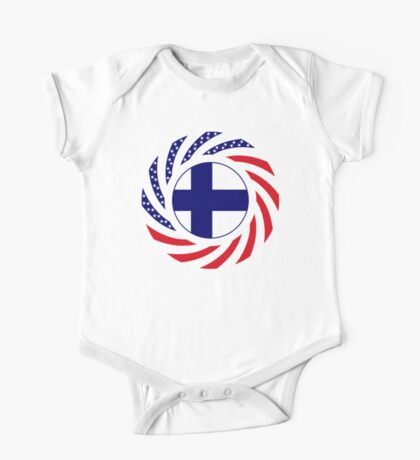 Finnish American Multinational Patriot Flag Series Kids Clothes