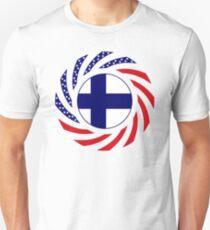 Finnish American Multinational Patriot Flag Series Unisex T-Shirt