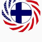 Finnish American Multinational Patriot Flag Series by Carbon-Fibre Media