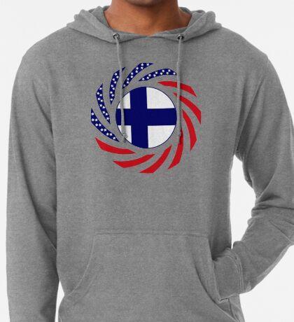 Finnish American Multinational Patriot Flag Series Lightweight Hoodie