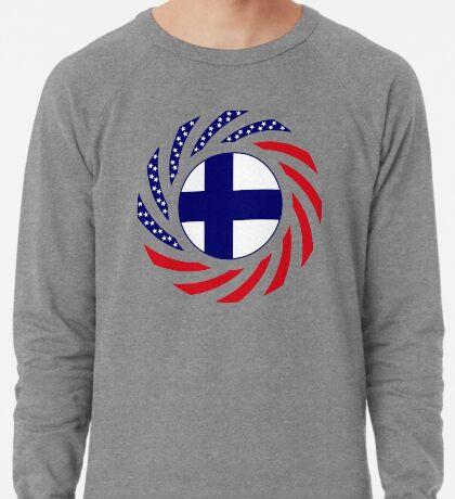 Finnish American Multinational Patriot Flag Series Lightweight Sweatshirt