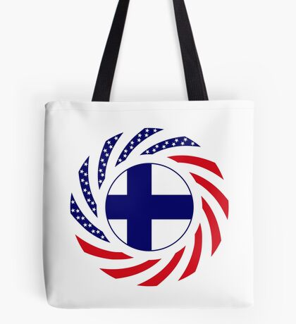 Finnish American Multinational Patriot Flag Series Tote Bag