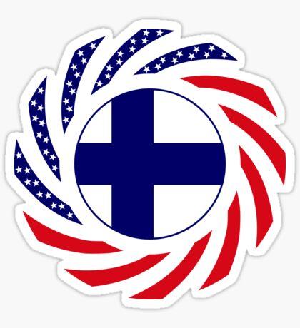 Finnish American Multinational Patriot Flag Series Sticker
