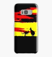 Kangaroos silhouettes at Sunset Samsung Galaxy Case/Skin