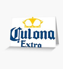 Culona Extra Funny Beer Logo Greeting Card